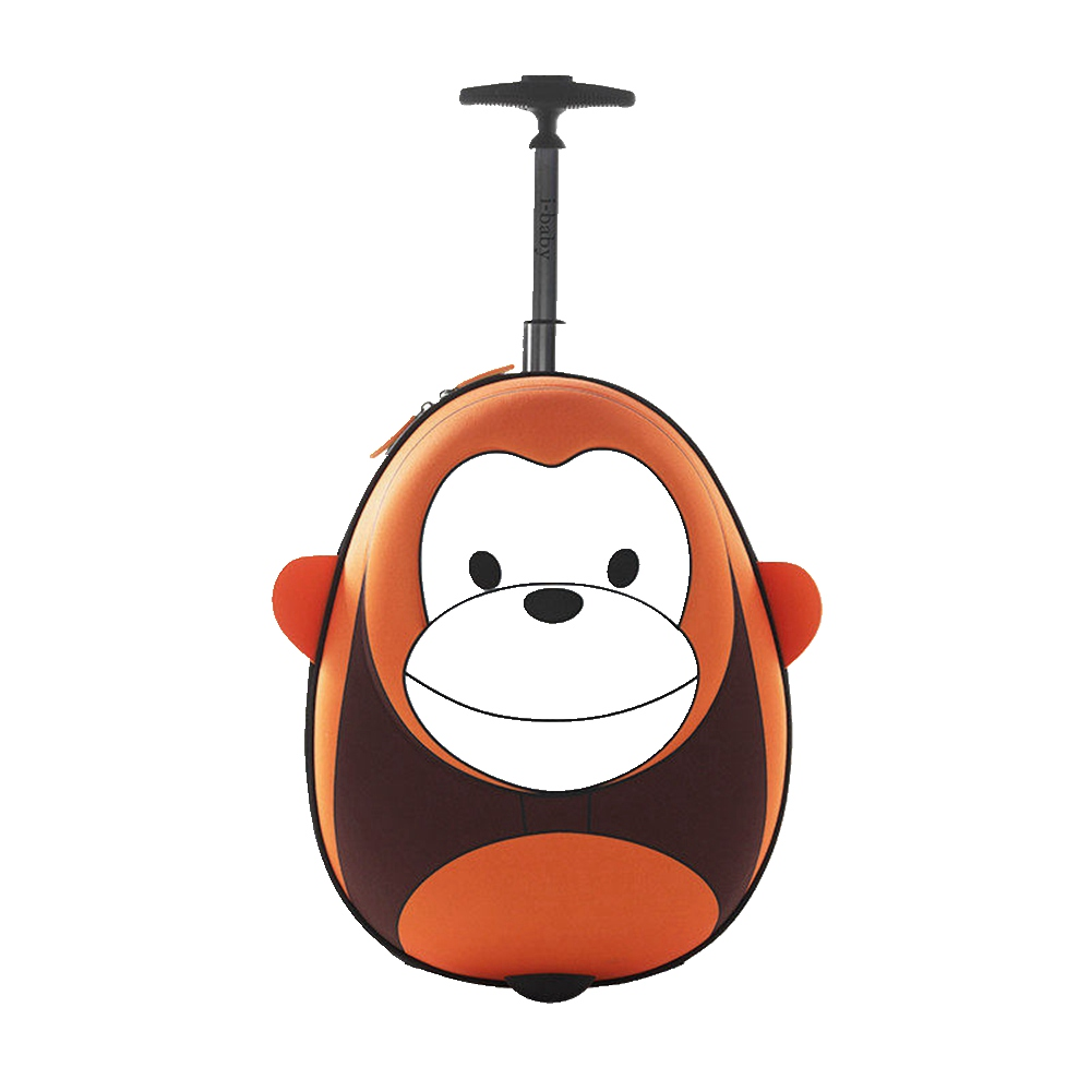 i-baby 3D Animal Design Kids Rolling Luggage Toddler Travel Case Cartoon Boarding Carry on Suitcases, Monkey, 2 Colors