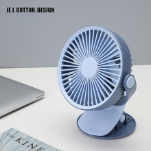 Portable Mini Clip Fan USB Charging 2000 mAh Battery Operated 360 Rotation Fan for indoor Outdoor dormitory Baby Car