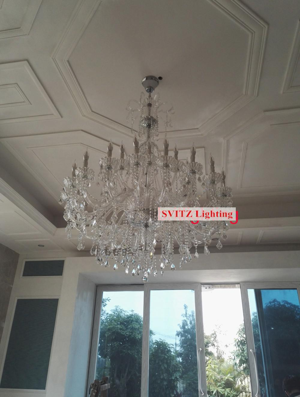Hotel 30 pcs Deluxe clear crystal chandelier lighting lampada Great - Indoor Lighting - Photo 2