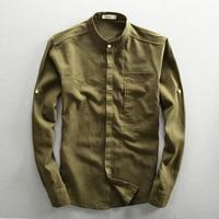 ICPANS Autumn Casual Business Mens Shirts Cotton And Linen Long Sleeve Men's Shirt White Camisa Masculina Plus Size 3XL 4XL