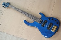Free shipping 5 String Electric Bass Guitar, Aged Modulus FB 5 Bass 2006 Flea signature Quilted Maple 141110