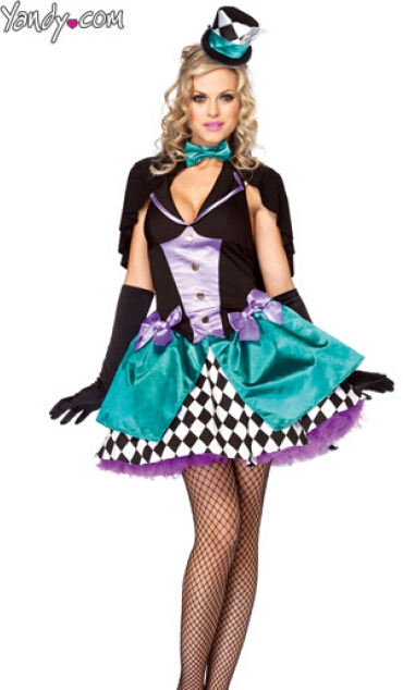 FREE SHIPPING ZY423 mad hatter costume Deluxe Coustume Halloween Costumes  For Women Fantasias Cosplay Cheap Hot Sale costume b859a7a083