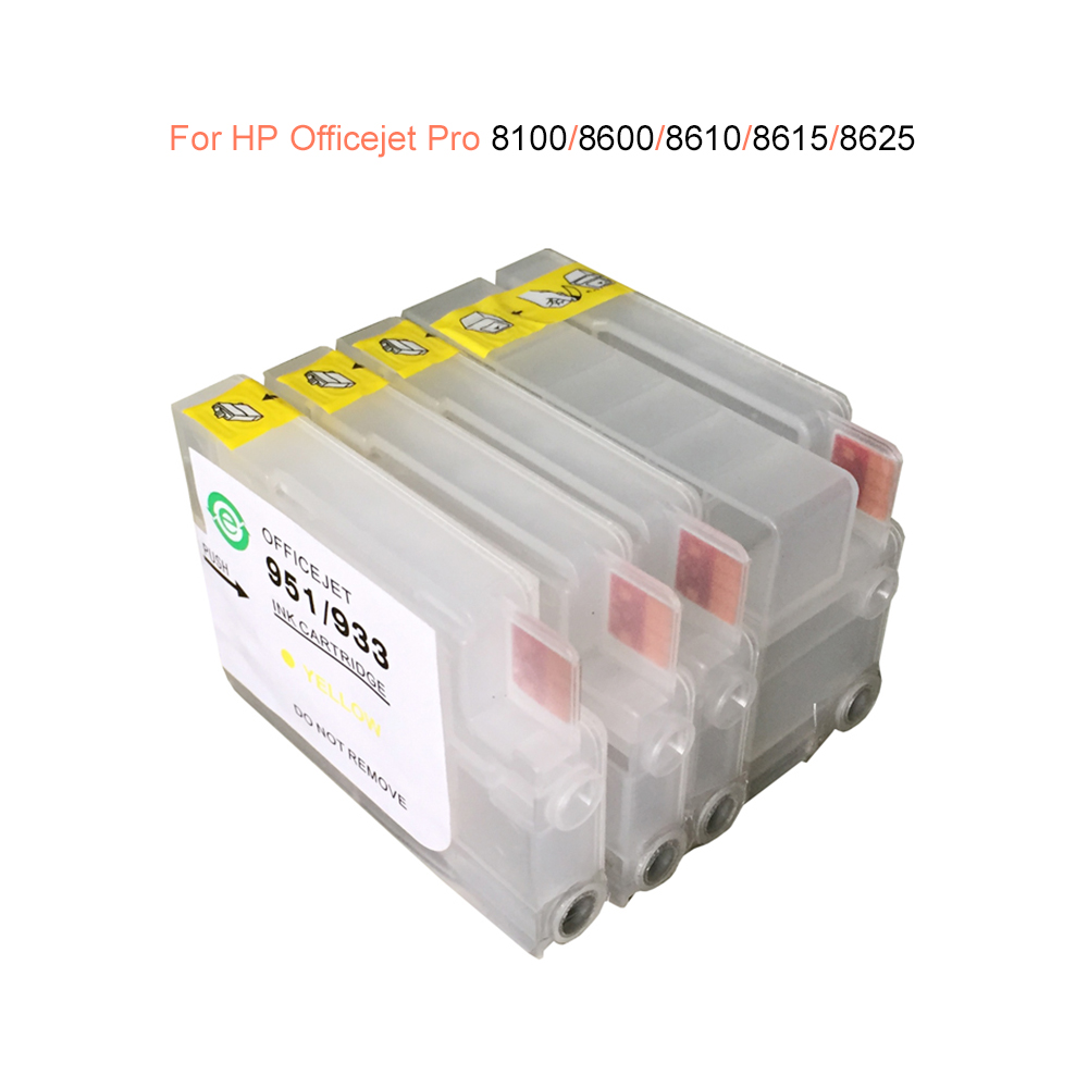 HP 950 refillable ink cartridges for HP Officejet Pro 8100 8600 8610 8620 8660 8640 8660 8615 8625 with ARC chip 4 pcsHP 950 refillable ink cartridges for HP Officejet Pro 8100 8600 8610 8620 8660 8640 8660 8615 8625 with ARC chip 4 pcs