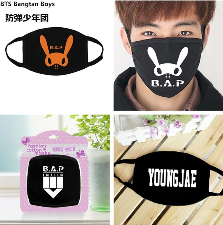 Lower Price with Mask Kpop Bts 1pcs Bangtan Army Fan Style Muffle Muzzle Anti-dust Cotton Face Mouth Mask Exo Bear Dust Earmuff Products Men's Accessories Apparel Accessories