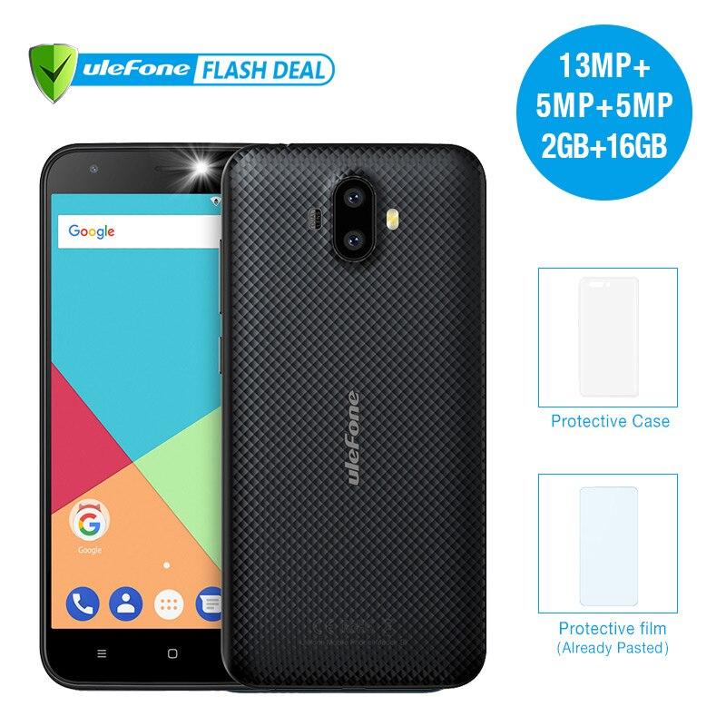 Ulefone S7 Pro 2 GB RAM 16 GB ROM doble cámara de teléfono móvil 5,0 pulgadas HD MTK6580 Quad Core android 7,0 13MP Cam 3G WCDMA celular