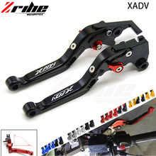 For Honda XADV 750 2017 2018 New arrived With logo X-ADV titanium red motorcycles CNC Adjustable Extendable Brake Clutch Levers