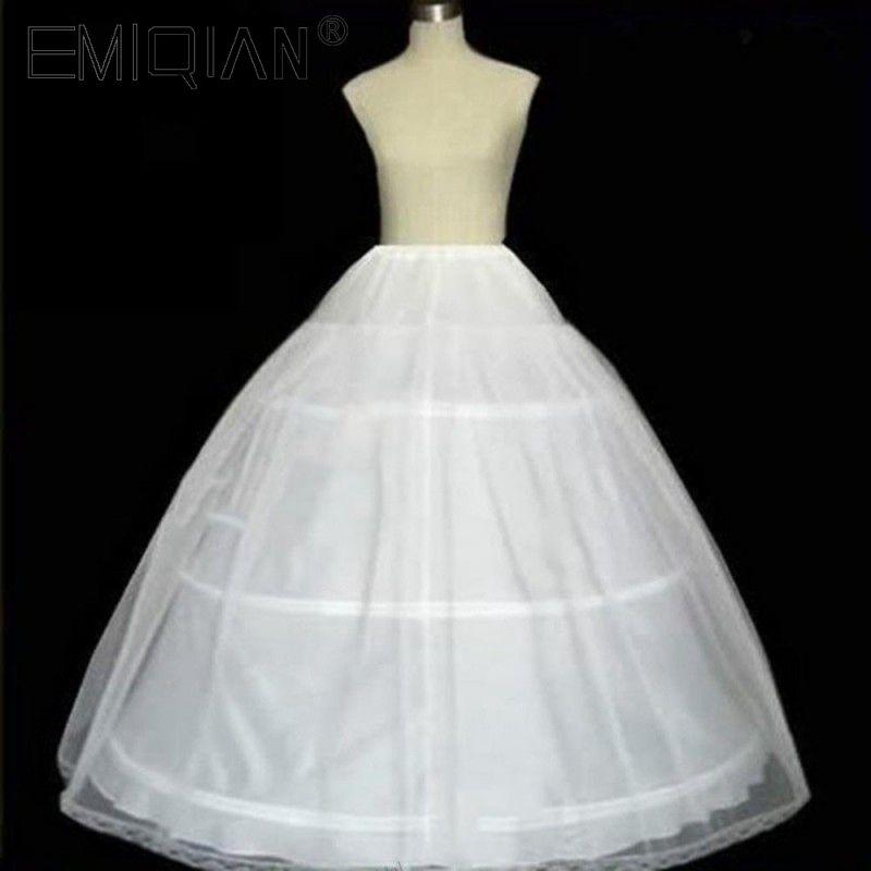 100 Satisfaction FREE SHIPPING Quality Guaranteed 3 Hoops Bone Elastic Waist Full Crinoline Petticoats Underskirt