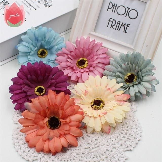Pas Cher En Gros 50 Pcs Multicolore Soie 10 Cm Gerbera Fleurs