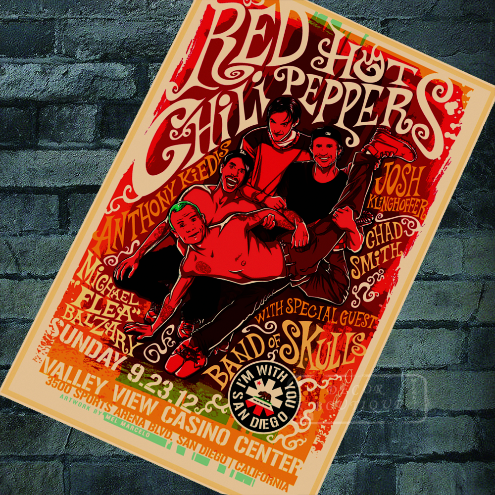 Home Decor Stores San Diego: San Diego 2012 Concert Red Hot Chili Peppers Rock Music