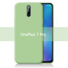 KEYSION Liquid Silicone Phone Case For OnePlus 7 Pro 1+7 Shockproof Coque Rubber Soft Cover For OnePlus 7 Pro One Plus 6 6T 1+7P