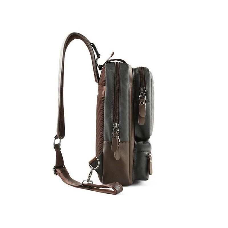 Image 4 - Brand Men's Shoulder Bag Vintage Men Crossbody Bag Men Chest Bags Casual Fashion PU Leather Men Messenger Bag L51-in Crossbody Bags from Luggage & Bags