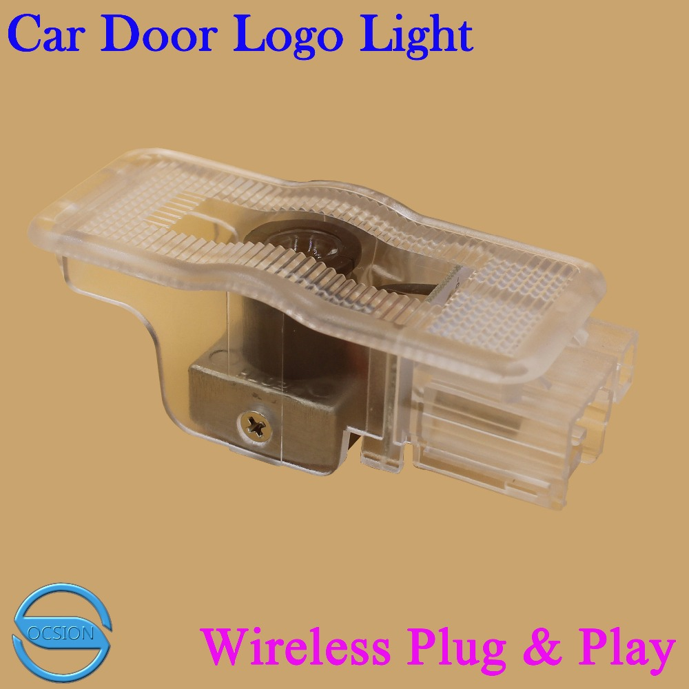 2X Car Door Logo Projector Laser Light For Peugeo 408 508 RZC Wireless 3D Ghost Shadow Courtesy Welcome Lamp