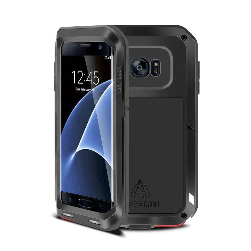 Цена за Любовь Мэй Для Samsung S7 Случае Роскошные Алюминий + Силикон Ударопрочный Защитный Чехол Для Телефона Для Samsung S6 Край Плюс Случае крышка Принципиально