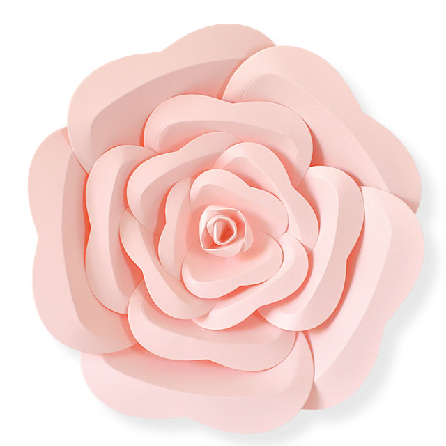 Online shop diy half made giant paper flowers large artificial rose diy half made giant paper flowers large artificial rose flower home wedding party backdrop wall decorations photography props mightylinksfo
