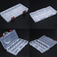 Sturdy 5 Compartments Fly Fishing Lure Hook Bait Storage Case 22.5 x 11.2 x 3.3cm Clear Seen Fishing Deal with Field