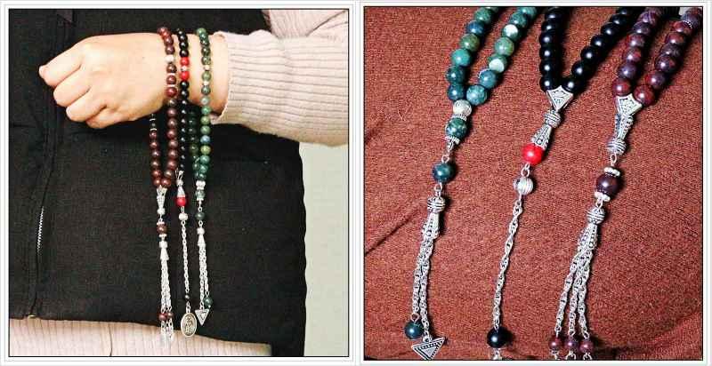 8mm runde facettierte Howlith Steinbetten Runde Form 33 Gebetskette - Modeschmuck - Foto 6