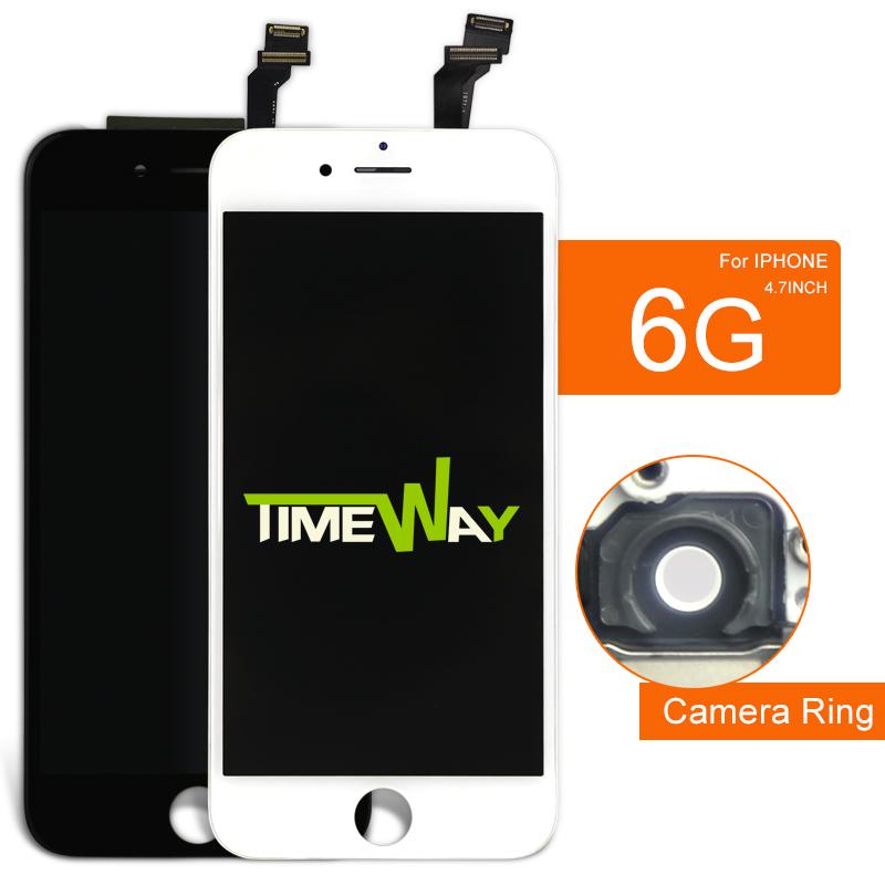 Prix pour 10 pcs pour iphone 6 lcd a + + + + écran tactile dans blanc 4.7 pouce affichage avec digitizer assemblée + caméra titulaire