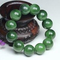 Xinjiang hetian green stone bracelet male, female stone bracelet series high quality certificate/6