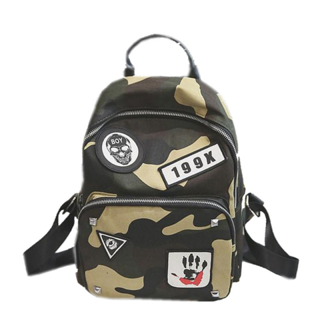1105bf9966 Camouflage Women Mini Backpacks for Teenage Girls Boys Canvas School  Backpacks Casual Shoulder Bags for Travel