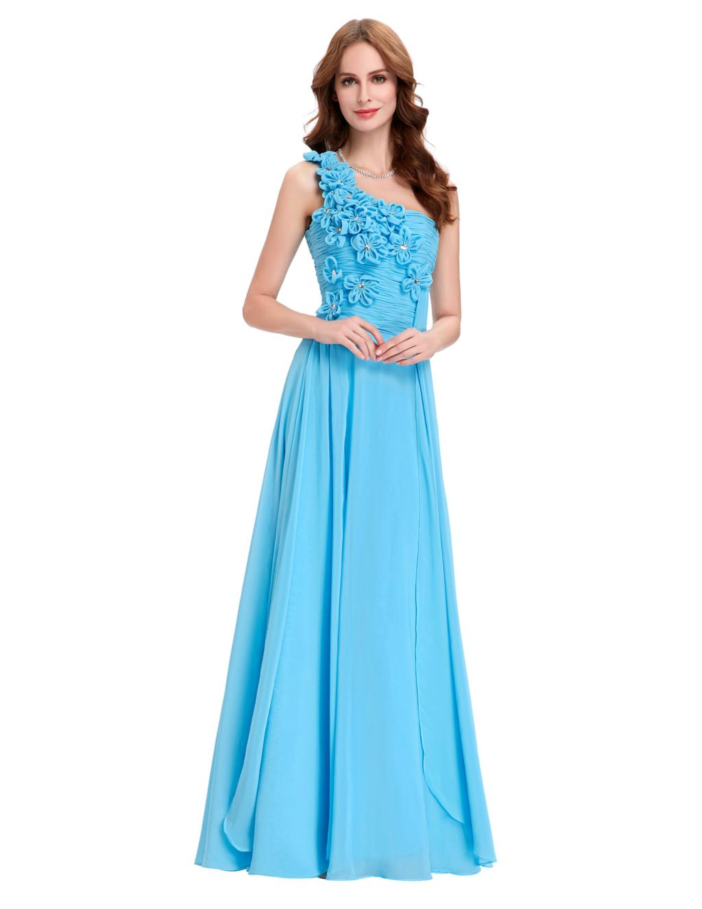 Online get cheap light blue bridesmaid dresses aliexpress for Light blue and white wedding dresses