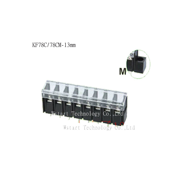KF78C 78CM 13mm pitch 13mm Straight Weding pin cable wire barrier terminal block connector With the