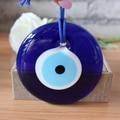 D10cm Pingente Encanto Do Olho Mau De Vidro Ornamento Amuleto Protetor de Home Office Parede Pendurado Sorte Olho Turco Árabe Islâmico