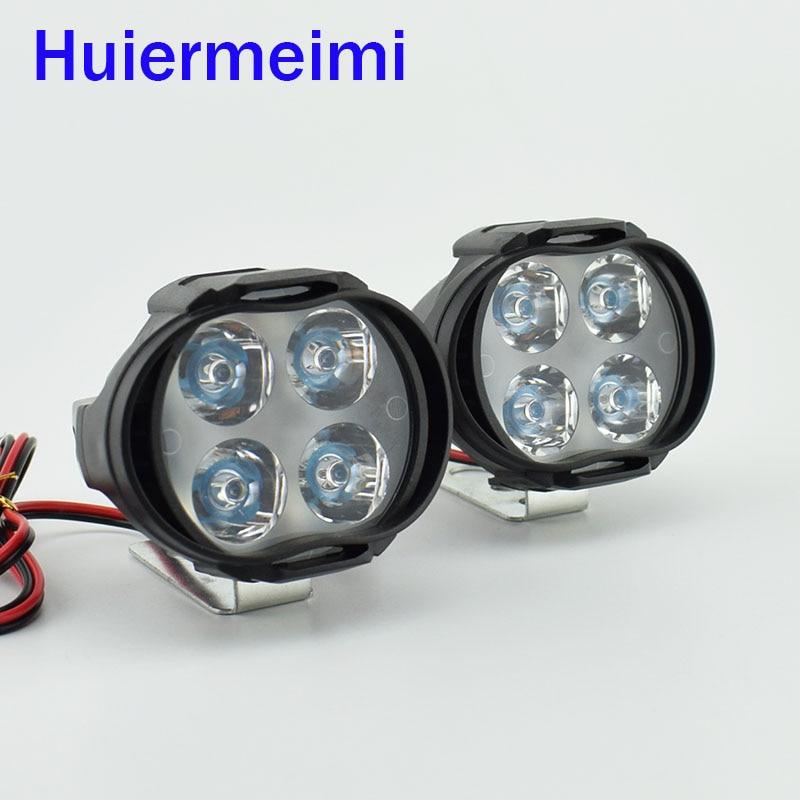 2 PCS Motorcycles Led Headlight HeadLamps 1000Lm Scooters Fog Spotlight 6500K White Motorbike Working Spot Head Light 12V