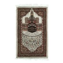 110x65 см Молитвенный Ковер, мягкое одеяло, Легкий домашний вышитый подарок, исламский мусульманский гобелен с кисточками, декоративный ковер для спальни