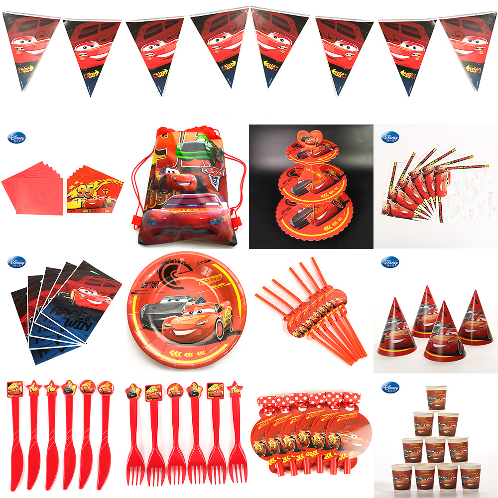 Disney Beautiful Set Cars Party Supplies Baby Pack