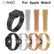 Luxury Fashion strap For Apple Watch Band suitable Series 4 3 2 1 38mm 42mm watchband Bracelet Smart Accessories Wrist 44mm 40mm