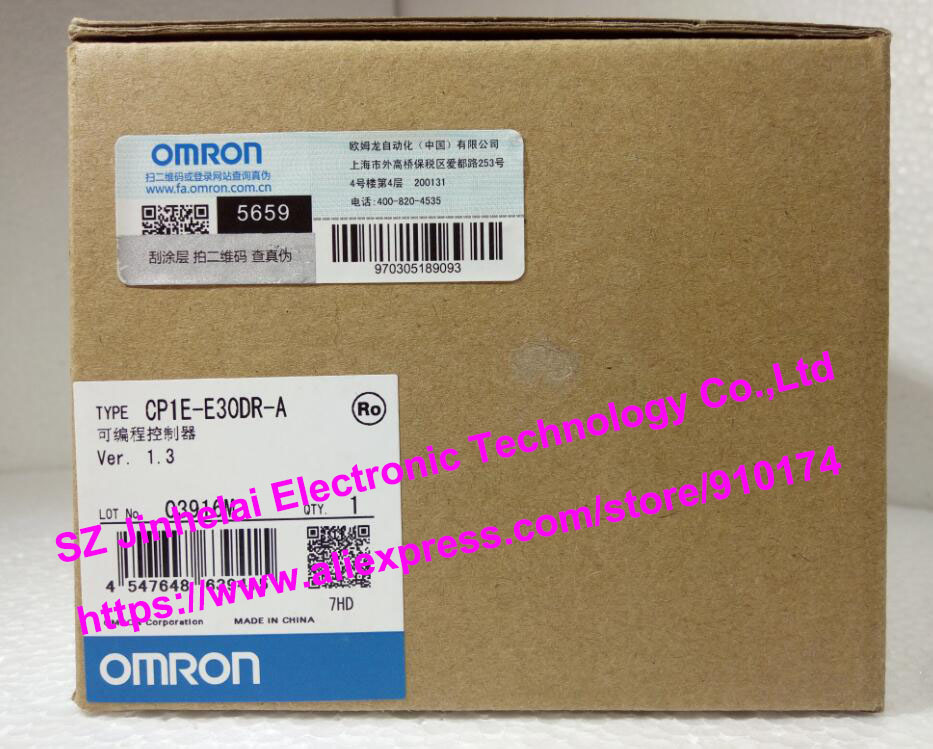 100%New and original  CP1E-E30DR-A OMRON Plc new and original e3x da11 s omron optical fiber amplifier photoelectric switch 12 24vdc