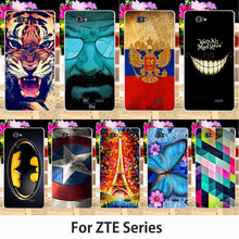 Soft TPU Silicon Cases For ZTE Blade A465 A 465 Phone Covers Tiger Captain American Batman Painted Shell Hood Skin Rubber