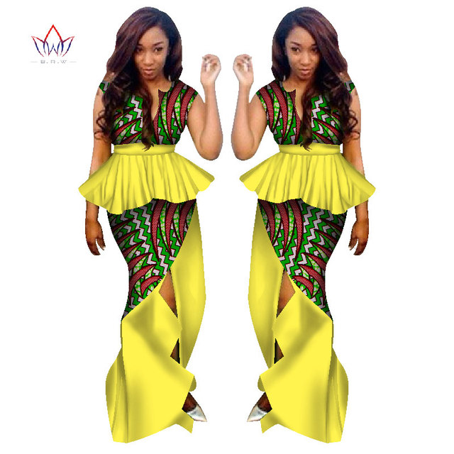 ca39d2cced BRW Traditional African Clothing for Women 2 Piece Skirt Suit Set Clothing  African Clothes African Print
