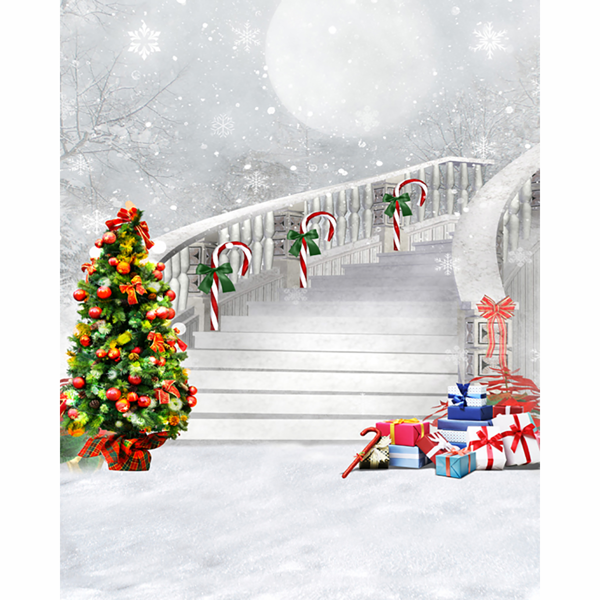 Christmas backgrounds for christmas photo studio Tree Gift Scepter ...