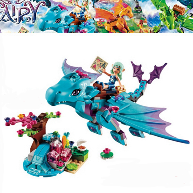 10500 214pcs Fairy Elves The Water Dragon Building Bricks Blocks Set Kids toys Compatible with Lepine Friends 41172 chris wormell george and the dragon