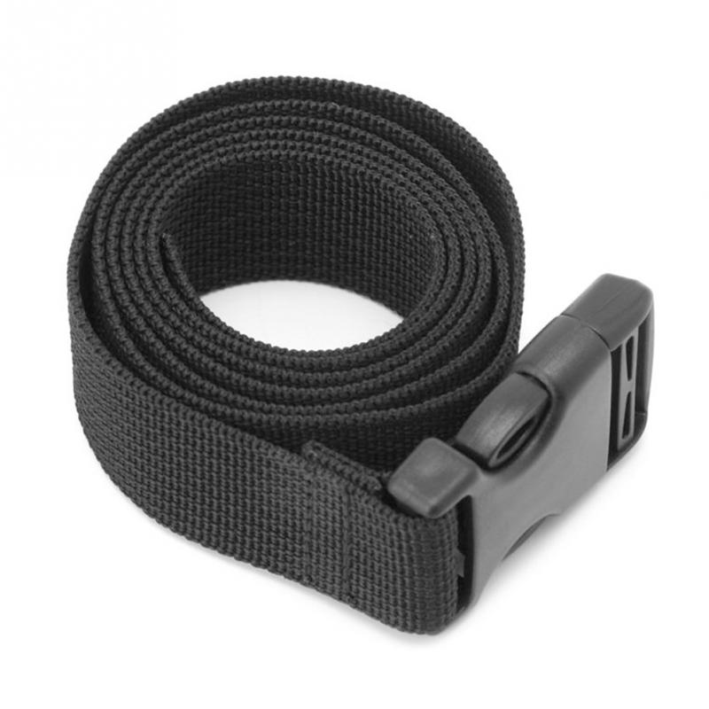 Outdoor Tools Luggage Bag Mattress Long Black Lash Nylon Strap with Quick Release Buckle Tied Band Fixed Belt quick release nylon plastic waist holster buckle for usp black