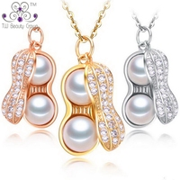 2018 New Real 925 Sterling Silver Multi Color Lovely Unique Shell Pearl Pendants Necklaces For Women Female Fashion Jewelry