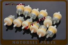 12PCS/lot Car Dirt Pocket Bike Oil Filter Petrol Gas Gasoline Liquid Fuel Filter For Scooter Motorcycle Motorbike