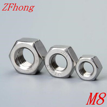 50pcs din934 Stainless Steel 304 M8 Hex Nut