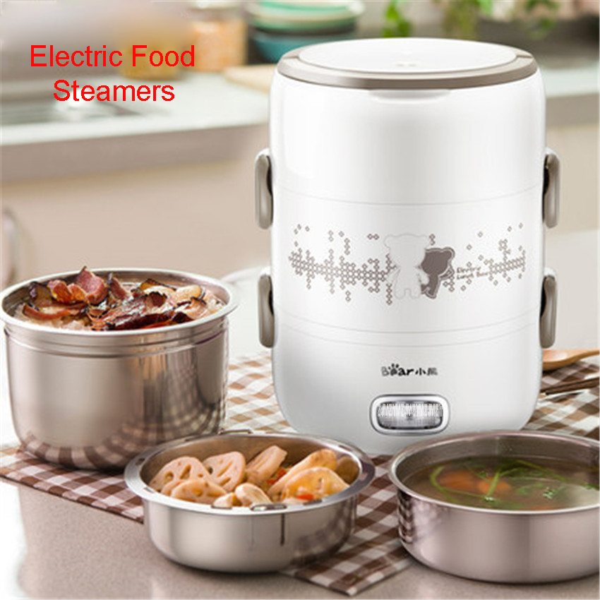 DFH-S2358 220V Electric Food Steamer Multifunctional Household Three Layers 304 Stainless Steel Split Hot Pot Mini Steamer 2L cukyi household electric multi function cooker 220v stainless steel colorful stew cook steam machine 5 in 1