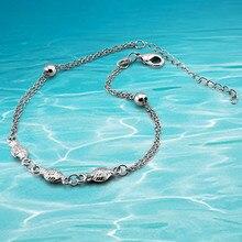 Маленькая рыба женщины бренд ножной браслет, 925 чистое серебро ножной браслет, Нога браслет