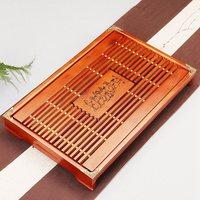Natural Wood puer Tea Tray Chinese Kung fu Wood Tea Board with Drainage water storage for oolong tea black tea dahongpao