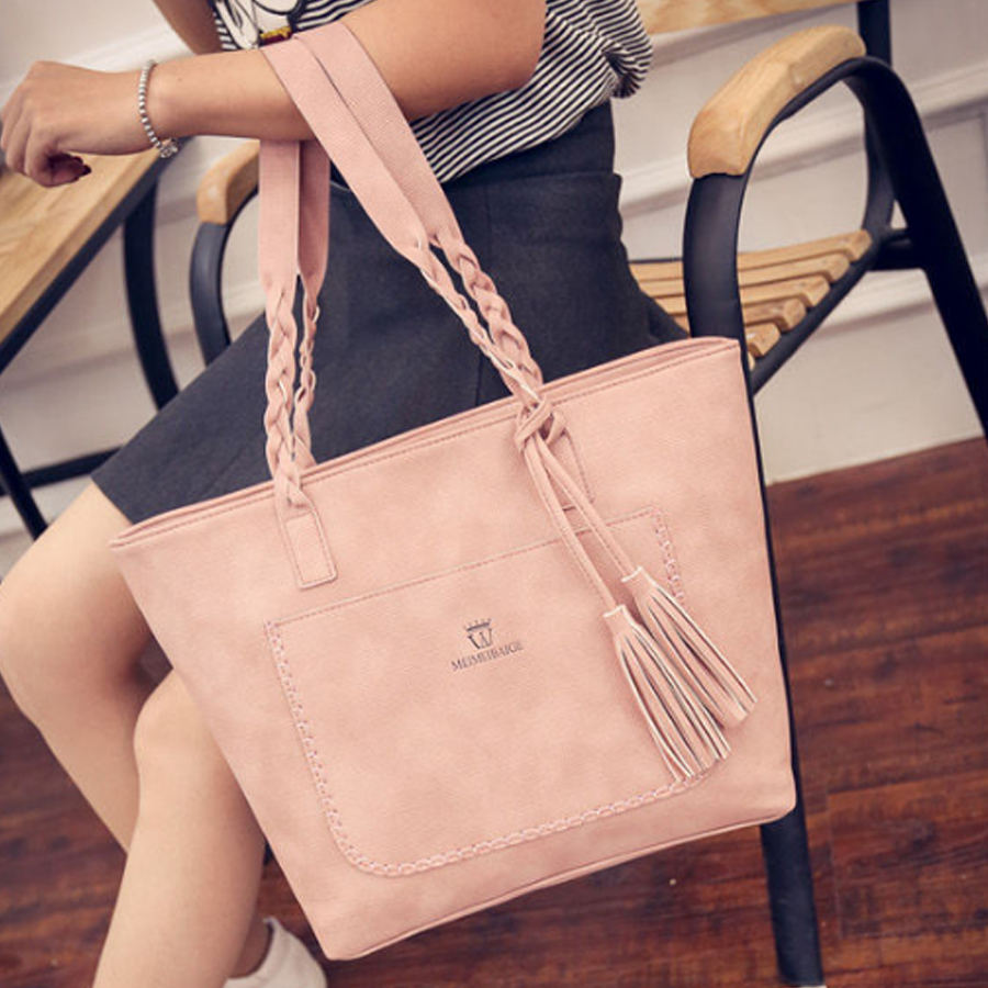 Tassel Bag Women Big Pu Leather Handbags Ladies Casual Tote high Capacity Shopping Bag Designer Brand Shoulder Bags 2018 Bolsa brand designer large capacity ladies brown black beige casual tote shoulder bag handbags for women lady female bolsa feminina page 3
