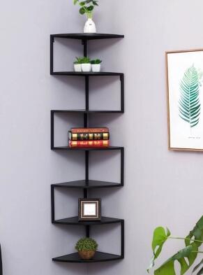 Corner Shelf. Wall Iron Art Triangle Bracket. Wall Fan Bookshelf. Corner Rack For Shelf Life.080