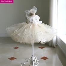 Короткие кружевные платья с цветочным узором для маленьких девочек платья для маленьких девочек Vestido flores