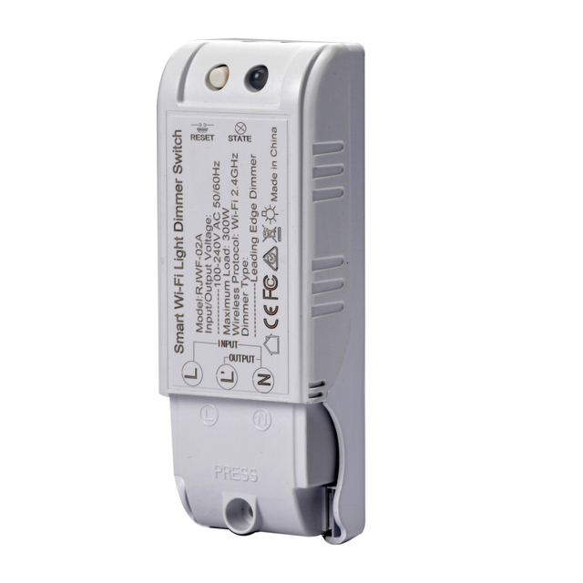 Módulo de atenuación inteligente DIY interruptor de luz controlador inalámbrico de Control de voz Wifi interruptor de atenuación funciona con Alexa Google