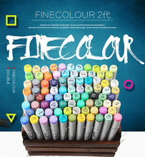 Finecolour 30/40/50/60/160 Set Colourful And Professional Sketch Permanent Art Marker Pen For Manga Markers For Drawing finecolour markers yellow and red color double ended art marker artist sketch drawing marker pen