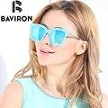 BAVIRON Nuevo Colorido gafas de Sol HD Polarized Gafas de Sol para Las Mujeres Retro Classic Mirror UV400 Gafas de sol de Lujo Caja Libre 8518