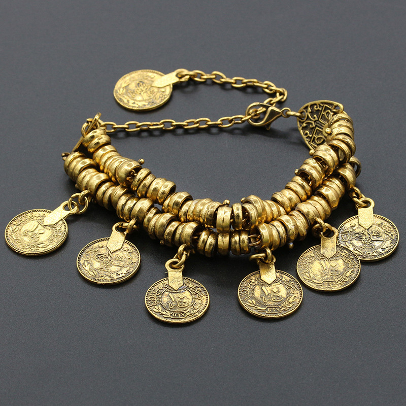 Bohemian Coin Anklet Antique Retro Gold Silver Chain