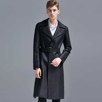 Luxury Chamois Mens Coat With Belt Plus Size 5xl 6xl Long Style Single Breasted Mens Coats And Jackets Fashion Trench Coat Men